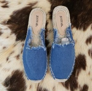 Flat Mules Denim